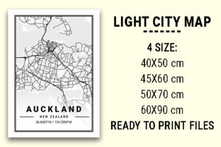 Print on Demand: Auckland Light City Map Graphic Photos By tienstencil