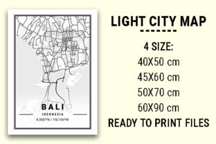 Print on Demand: Bali Light City Map Graphic Photos By tienstencil