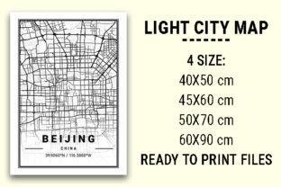 Print on Demand: Beijing Light City Map Graphic Photos By tienstencil