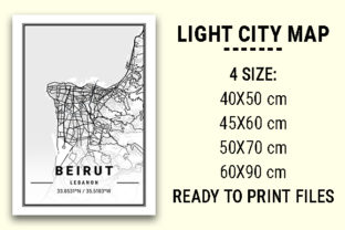 Print on Demand: Beirut Light City Map Graphic Photos By tienstencil