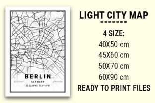 Print on Demand: Berlin Light City Map Graphic Photos By tienstencil