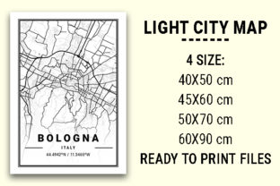 Print on Demand: Bologna Light City Map Graphic Photos By tienstencil