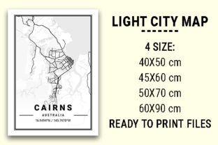 Print on Demand: Cairns Light City Map Graphic Photos By tienstencil