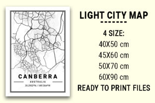 Print on Demand: Canberra Light City Map Graphic Photos By tienstencil