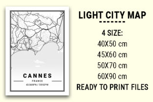 Print on Demand: Cannes Light City Map Graphic Photos By tienstencil