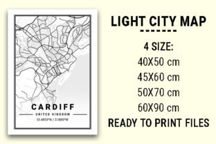 Print on Demand: Cardiff Light City Map Graphic Photos By tienstencil