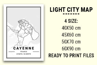 Print on Demand: Cayenne Light City Map Graphic Photos By tienstencil
