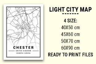 Print on Demand: Chester Light City Map Graphic Photos By tienstencil