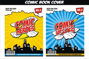Print on Demand: Comic Book Cover Easy Editable Graphic Graphic Templates By edywiyonopp