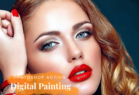 Digital Painting Photoshop Action Graphic Actions & Presets By artgalaxy