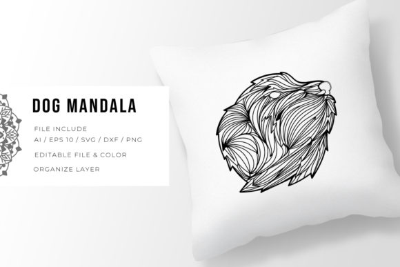 Print on Demand: Dog | Mandala Grafik Plotterdateien von Vunira