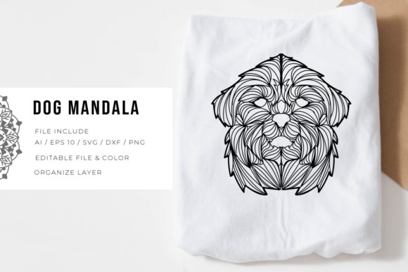 Print on Demand: Dog | Mandala Graphic Crafts By Vunira