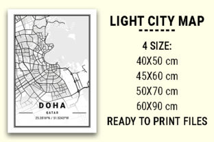 Print on Demand: Doha Light City Map Graphic Photos By tienstencil