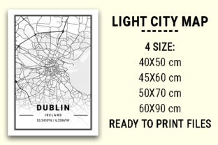 Print on Demand: Dublin Light City Map Graphic Photos By tienstencil