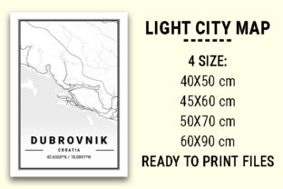Print on Demand: Dubrovnik Light City Map Graphic Photos By tienstencil