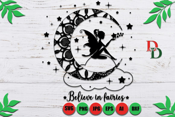 Fairy Moon Graphic Crafts By denysdigitalshop