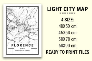 Print on Demand: Florence Light City Map Graphic Photos By tienstencil