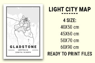 Print on Demand: Gladstone Light City Map Graphic Photos By tienstencil
