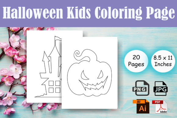 Print on Demand: Halloween Kids Coloring Page-KDP(Vol-2) Graphic Coloring Pages & Books Kids By Sei Ripan