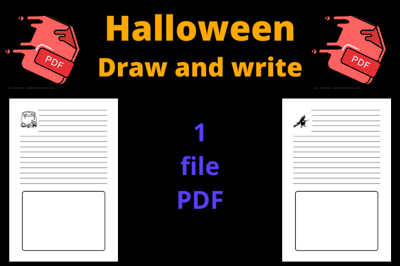 Print on Demand: Halloween Draw and Write Journal Graphic KDP Interiors By Dunkyshot