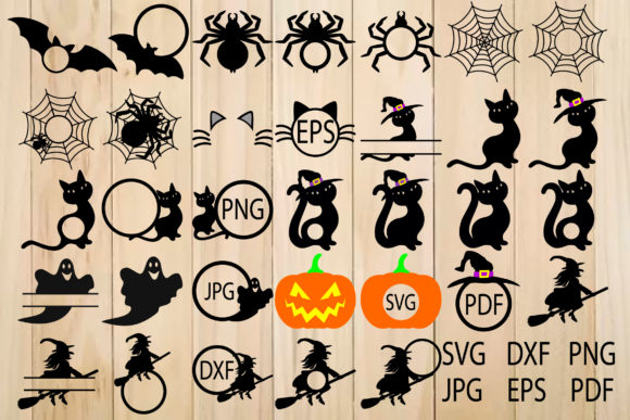 Print on Demand: Halloween Silhouette Graphic Crafts By yulnniya