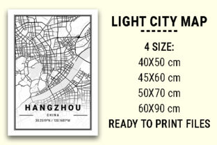 Print on Demand: Hangzhou Light City Map Graphic Photos By tienstencil