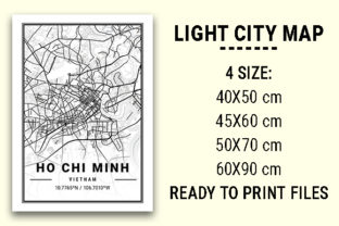 Print on Demand: Ho Chi Minh Light City Map Graphic Photos By tienstencil