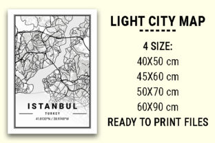 Print on Demand: Istanbul Light City Map Graphic Photos By tienstencil