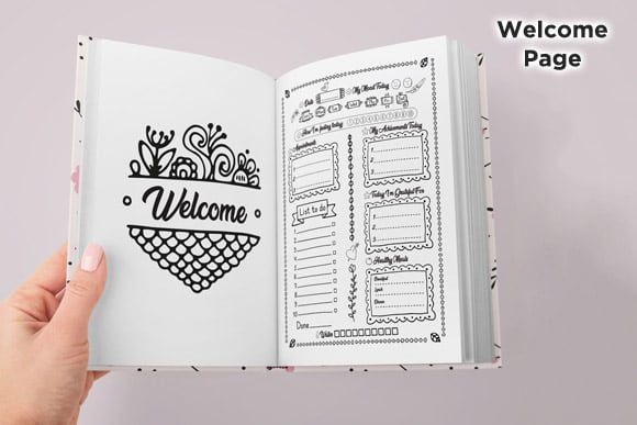 Print on Demand: KDP Daily Journal Planner Organizer Vol1 Graphic KDP Interiors By Queen Dreams Store - Image 3