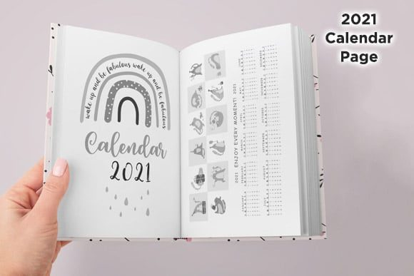 KDP Daily Journal Planner Organizer Vol1 Graphic Preview