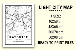 Print on Demand: Katowice Light City Map Graphic Photos By tienstencil