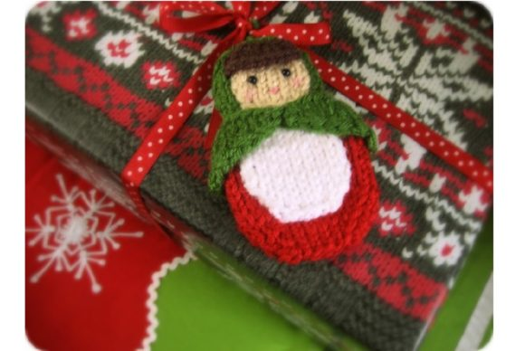 Knit Matryoshka Doll Ornament Pattern Graphic Preview