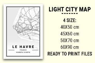 Print on Demand: Le Havre Light City Map Graphic Photos By tienstencil