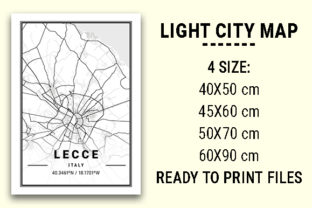 Print on Demand: Lecce Light City Map Graphic Photos By tienstencil