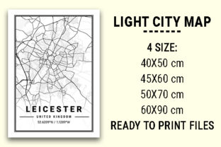 Print on Demand: Leicester Light City Map Graphic Photos By tienstencil