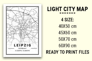 Print on Demand: Leipzig Light City Map Graphic Photos By tienstencil