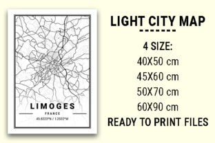 Print on Demand: Limoges Light City Map Graphic Photos By tienstencil