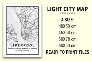 Print on Demand: Liverpool Light City Map Graphic Photos By tienstencil
