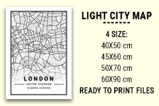 Print on Demand: London Light City Map Graphic Photos By tienstencil
