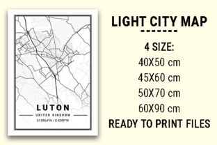 Print on Demand: Luton Light City Map Graphic Photos By tienstencil