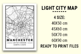 Print on Demand: Manchester Light City Map Graphic Photos By tienstencil