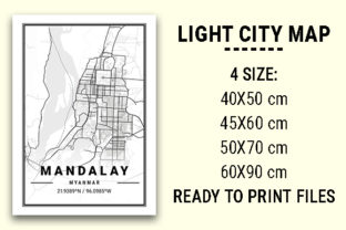 Print on Demand: Mandalay Light City Map Graphic Photos By tienstencil