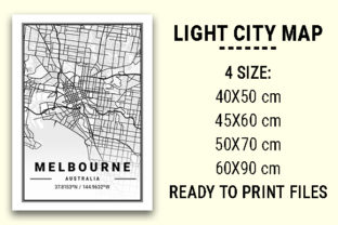 Print on Demand: Melbourne Light City Map Graphic Photos By tienstencil