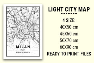 Print on Demand: Milan Light City Map Graphic Photos By tienstencil