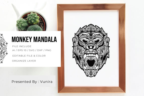 Monkey | Mandala Graphic