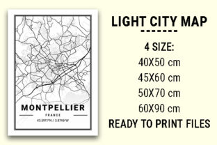 Print on Demand: Montpellier Light City Map Graphic Photos By tienstencil