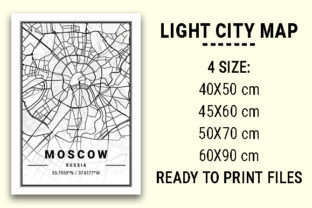 Print on Demand: Moscow Light City Map Graphic Photos By tienstencil