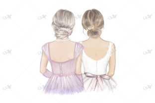 Mother of the Bride Illustration Graphic Illustrations By MaddyZ