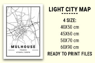 Print on Demand: Mulhouse Light City Map Graphic Photos By tienstencil