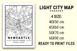 Print on Demand: Newcastle Light City Map Graphic Photos By tienstencil